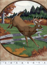 White Tail Deer - Quilt Fabric - 2 Panel Piece