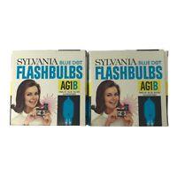 Lot of 2 Boxes Sylvania Blue Dot Flashbulbs AG1B 24 Blue Bulbs NOS