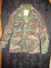 US ARMY REMOVABLE LINED COLD WEATHER COAT CAMO SMALL SHORT 9TH DIV PATCH