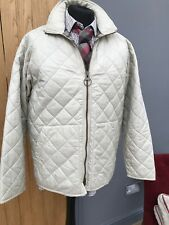 Men's IVORY Quilted Flyweight BARBOUR Sports QUILTED Diamond COAT Jacket 40/42'