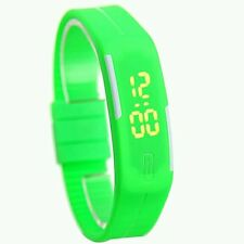 Sport Green Watch Unisex  Kid Electronic Led Digital Jelly wristwatch