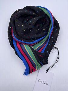 Paul Smith Men Scarf Stripe End 100% Wool