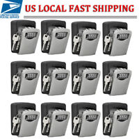 1/2/5/10 4 Digit Combination Key Lock Box Wall Mount Home Security Storage Case