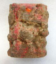 Antique Old Brown Sand Stone Hand Carved Hindu God Ganesha Holy Figure Statue