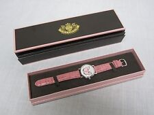 PRETTY JUICY COUTURE LADIES PINK BUTTERFLY WRIST WATCH MINT IN BOX