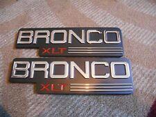 1992 1993 1994 1995 1996 FORD BRONCO XLT FRONT FENDER EMBLEMS F2TZ-16720 NEW 2x