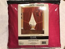 """NEW Editex Home Textiles Elaine Lined Pinch Pleated Window Curtain 96""""x84"""" Pink"""