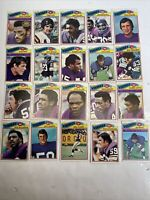 1977 Topps Football Minnesota Vikings Lot 20 Cards Carl Eller Matt Blair & More