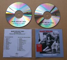 MARC BOLAN T.REX Greatest Hits 2007 UK 41-track promo test 2-CD uncompressed