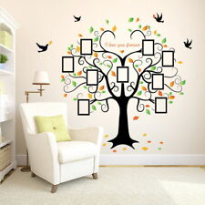Family Tree Wall Sticker Photo Picture Frame Removable DIY Room Decal Black UK