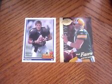 "1991 BRETT FAVRE, UD # 647 "" ROOKIE"" &  2008 GOLD HOBBY REVIEW , LOT  HOF farve"