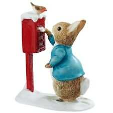 Beatrix Potter A3486 Peter Rabbit Posting a Letter Miniature Figurine