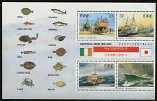 Ireland Fishing Stamp Mini Sheet 1991 w/ PHILANIPPON '91 Overprint Scott # 847a