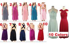 Multi Way Customize Free Style Wrap Bridesmaids Wedding Evening Party Midi Dress