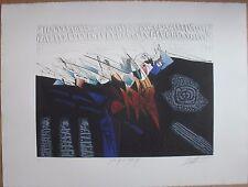 Gravure signée numérotée de Georges DUSSAU black is black etching *