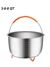 3/6/8-Quart Slow Cooker Steamer Basket Stainless Steel Steamer Insert with Silic
