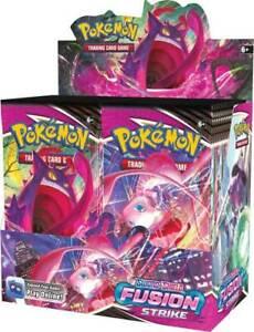 Pokemon Sword & Shield Fusion Strike Booster Box Factory Sealed 36 Packs PRESALE