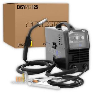 Spartus® EasyMIG 125 MIG Poste à souder soudage IGBT 100amp FLUX sans gaz