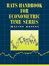 RATS: Handbook for Econometric Time Series-ExLibrary