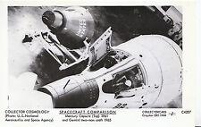 Cosmology Postcard - Spacecraft Comparison - Mercury Capsule & Two Man Craft U96