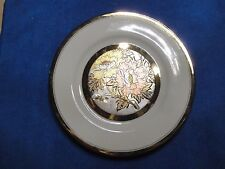 Chokin Plate, San Pacific, Made in Japan, 7 3/4 inches across.