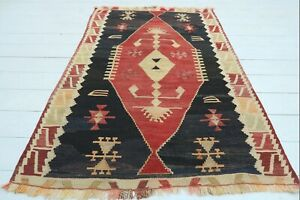 "Turkish Kayseri Small Kilim, Doormat Bathmat Small Area Rug Carpet Tapis 36""x56"""