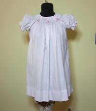 New $52 Petit Bebe Toddler Polka Dot Poplin Smocked Bunnies Long Bishop Dress 4