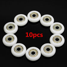 10Pcs Carbon Steel Embedded Groove Ball Bearings Pulley Wheels Roller 5x23x7mm