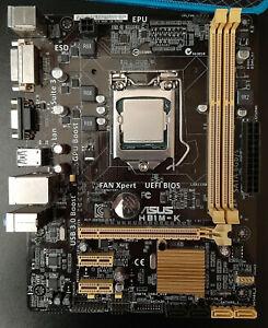 ASUS H81M-K rev. 1.01 Motherboard + Intel Pentium G3220