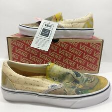 Womens VANS Classic Slip On Vincent Van Gogh Museum Skull Shoes Multi Size