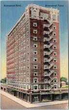 BROWNWOOD, Texas  TX   Roadside  BROWNWOOD HOTEL  1943      Postcard