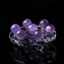 2018 Natural Amethyst Quartz Stone Sphere Crystal Fluorite Ball Healing Gemstone