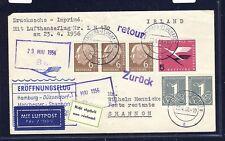 53911) LH FF Hamburg - Shannon Irland 23.4.56, Brief LP-DS Rarität