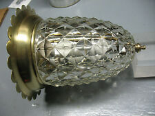 DECO VINTAGE   BRASS  / GLASS CEILING  FIXTURE  ORIGINAL FLAWLESS