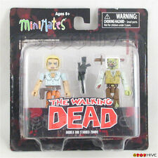 The Walking Dead Minimates Andrea and Stabbed zombie - series 2 - 2 figure pack