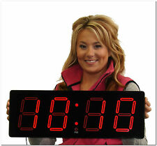 """Closeout on our 5"""" Red Laser LED Digital Clock (# EC46512R)"""