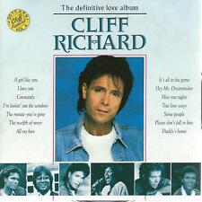 DOUBLE (2) CD album - CLIFF RICHARD - the definitive LOVE ALBUM 36 HITS !