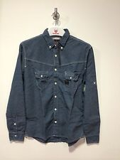 Duck & Cover 'Ethan' Military Shirt/Twilight Blue - Extra Large