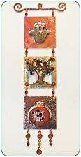 Judaica Art Tree of LIfe Pomegranate Hamsa,Hand Made Copper MOBILE Crystal Beads