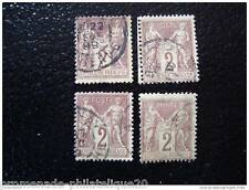 FRANCE timbre stamp yt n°85 x4 obl (T)