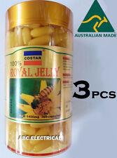 3x  ROYAL JELLY 1450mg 365 soft gel capsules 100% Natural Made Australia COSTAR