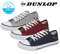 Ladies Dunlop Canvas Casual Lace Up Flat Memory Foam Comfort Plimsolls Shoes