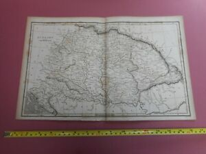 100% ORIGINAL LARGE HUNGARY  MAP  BY RUSSELL ARROWSMITH  C1808 VGC