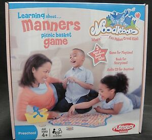 Playskool Learning About Manners Picnic Basket Game with CD Ages 4+ NIB