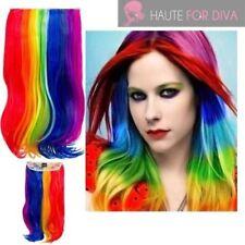 Perruques, extensions et matériel multicolores long pour femme