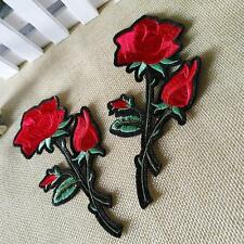 Vintage Flower Patch Iron on Sew Fabric Sticker Embroidered Appliques DIY Craft