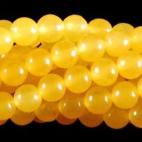 New 6mm Rare Yellow South America Topaz Loose Bead 15''AAA