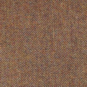 Lovat Kirkton brown herringbone versatile Scottish tweed 100% wool 120cm.