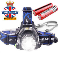 Rechargeable Tactical 30000LM T6 LED Headlamp 18650 Headlight Head Torch Lamp #