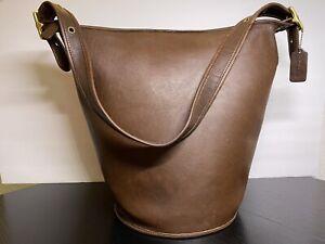 Vintage Coach Mahogany Brown Duffle Sac Shoulder Bag 9085